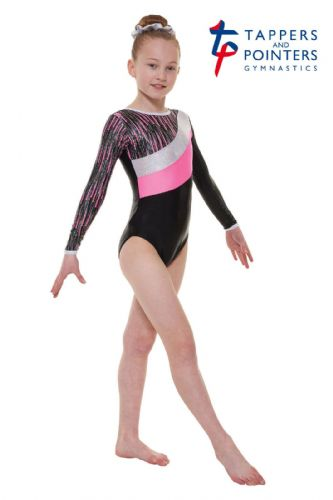 Tappers and Pointers Gymnastics Leotard PLUS Matching Hair Scrunchie Pink Gym 44